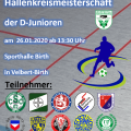 Hallenkreismeisterschaft D-Junioren am 26.01.2020